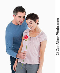 rose, seine, ehemann, angebot, ehefrau