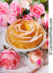 rose shaped cake for valentines