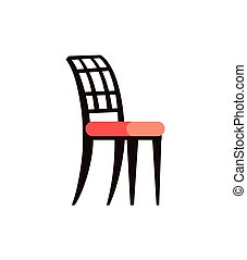 rose, siège, vecteur, noir, couleurs, chaise, doux