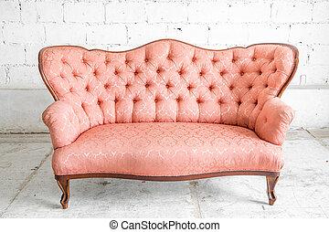 rose, sofa