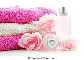 rose, spa, accessoire