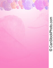 rose stationary - roses on pink background ideal for ...