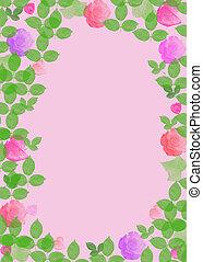 rose, stationnaire