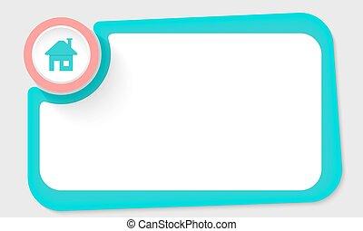 rose, texte, cadre, vert, maison, cercle, ton, icône
