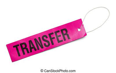 rose, transfert, étiquette