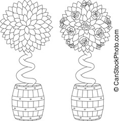Rose Tree Coloring Page