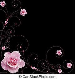 rose, turbini, vettore