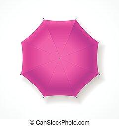 rose, umbrella., vecteur