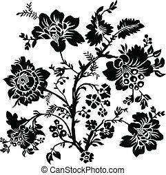 rose, vecteur, illustration
