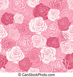 rose, vecteur, pattern., seamless