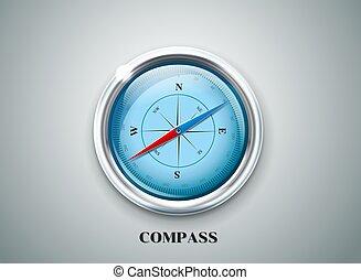 rose, vecteur, vent, illustration, compas