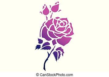 rose vector logo dsign