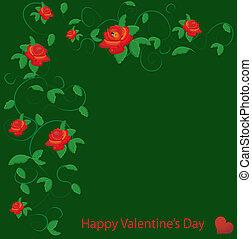 rose, vektor, rotes , valentine