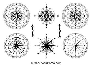 rose., vent, compas