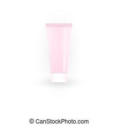rose, vide, récipient plastique