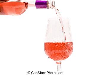 rose, vin versant, verre