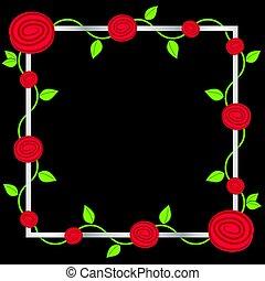 Rose vine frame in vector format.