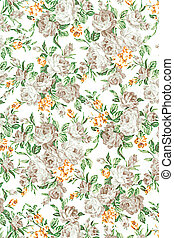rose vintage on fabric background, gray colour