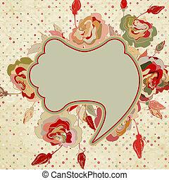 Rose wallpaper pattern. EPS 8