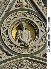Rose window - Detail of rose window of a church in Florence