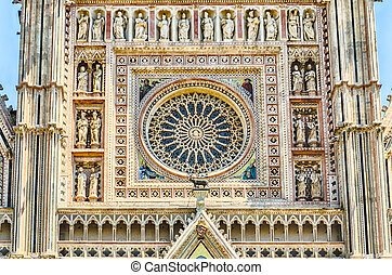 Rose Window, detail of the Orvieto Cathedral, Italy