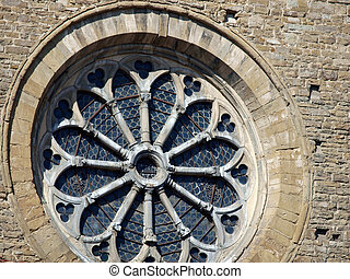Rose window from the church of Santa Maria Novella - Florence