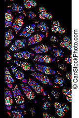 Rose Window in Notre Dame de Paris - Rose window in the...