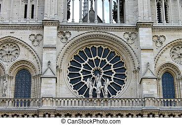 Rose Window. Notre Dame de Paris. France