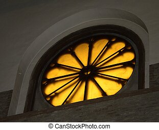 Rose Window - Bright rose window of a church