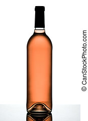 Rose wine bottle.