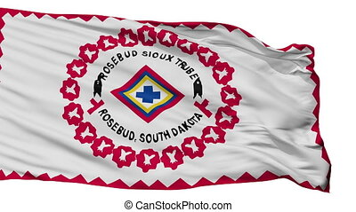 Rosebud Reservation Indian Flag Isolated Seamless Loop -...
