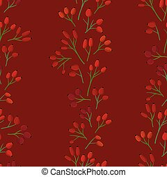 Rosehip twigs background - Rosehip twigs on dark red ...