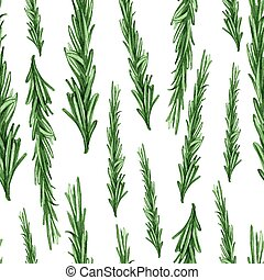 Rosemary - Hand Painted Watercolour - Culinary herbs - hand...