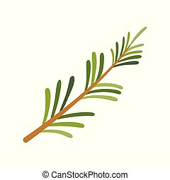 Rosemary icon. Herbs and spices