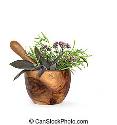 Rosemary, Sage and Marjoram Herbs - Rosemary, sage and ...
