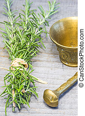 rosemary with mortar