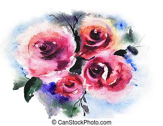 rosen, blumen