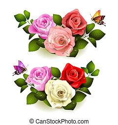 rosen, vlinders