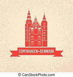 rosenborg , σύμβολο , denmark., castle., κοπεγχάγη