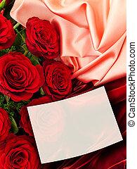 roser, hilsen card