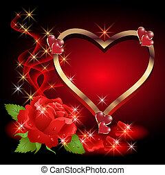roses, étoiles, fumée, coeur