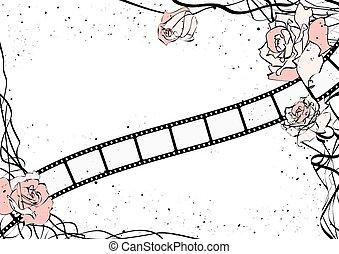 roses and film strip