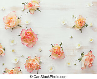 Roses and jasmine natural flower ba