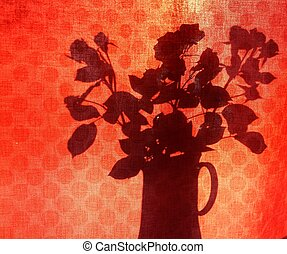 Roses are red silhouette #1