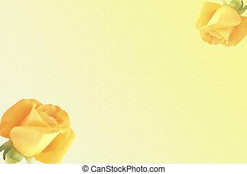 roses, backgro, jaune