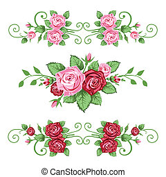 Roses banners collection - Banner in the victorian style...