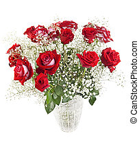 Roses bouquet - Beautiful red roses bouquet in a crystal...