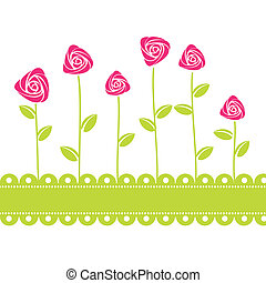 roses card background. Vector illustration
