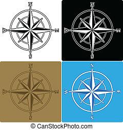 roses, compas