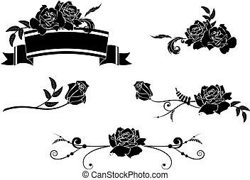roses, ensemble